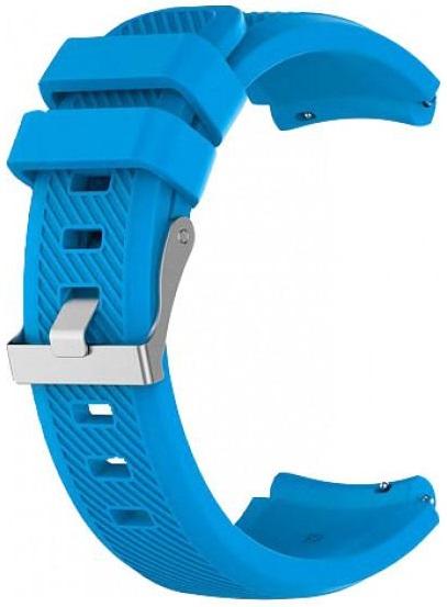Купить Аксессуары для смарт-часов и трекеров, Силиконовый ремешок с линиями MiJobs для Xiaomi Amazfit Bip, 20 мм голубой (AMZBPSILSTR-LBL)