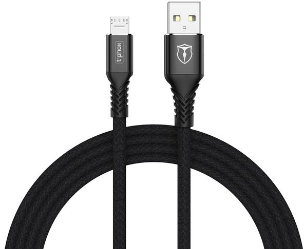 Купить Кабели для телефонов, Кабель T-PHOX Jagger T-M814 Micro USB - 1m (Black)
